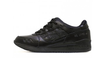 Кроссовки Мужские Asics Gel Lyte 3 Black Leather Classic