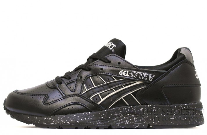 Кроссовки Asics Gel Lyte 5 Black perforation Leather