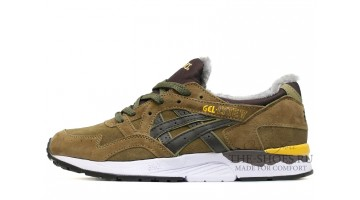 Кроссовки Мужские Asics Gel LYTE 5 Winter Bamboo Olive Brown