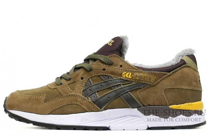Asics Gel LYTE 5 Winter Bamboo Olive Brown зелено-оливковые, фото 1