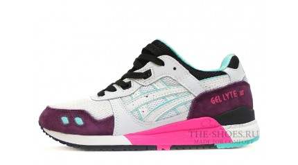 Asics Gel Lyte 3 Burgundy White Black Mint
