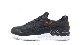 Asics GEL LYTE 5 Rose Gold Pack Black Leather черные кожаные