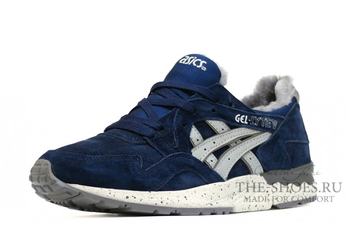 Asics Gel LYTE 5 Winter Navy Speckle Gray темно-синие, фото 2