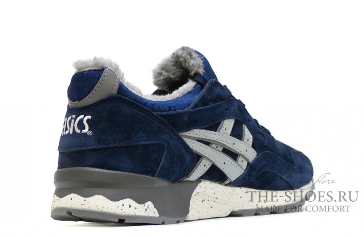 Asics Gel LYTE 5 Winter Navy Speckle Gray темно-синие, фото 3