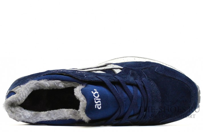 Asics Gel LYTE 5 Winter Navy Speckle Gray темно-синие, фото 4