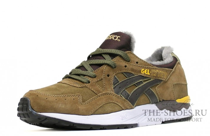 Asics Gel LYTE 5 Winter Bamboo Olive Brown зелено-оливковые, фото 2