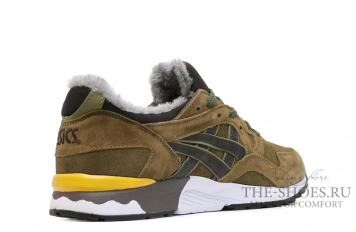 Asics Gel LYTE 5 Winter Bamboo Olive Brown зелено-оливковые, фото 3