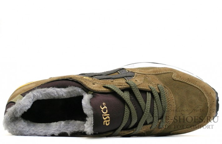 Asics Gel LYTE 5 Winter Bamboo Olive Brown зелено-оливковые, фото 4