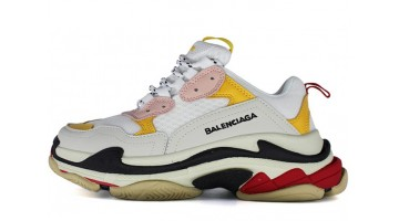 Кроссовки женские Balenciaga Triple S White Yellow Red