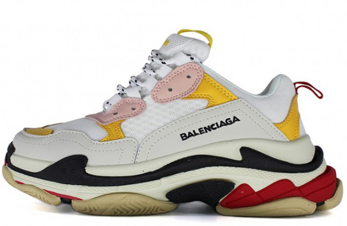 Balenciaga Triple S White Yellow Red белые