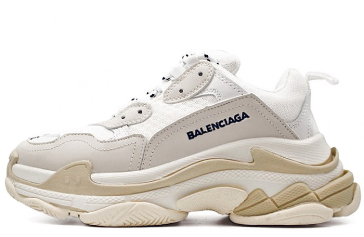 Кроссовки Balenciaga Triple S Cream White