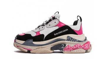 Кроссовки женские Balenciaga Triple S White Pink Black