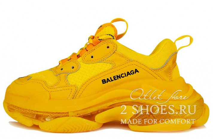 Кроссовки Balenciaga Triple S Yellow