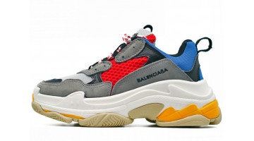 Кроссовки женские Balenciaga Triple S Gray Red FW17BALN36