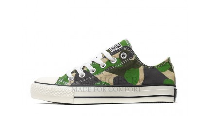 Converse КЕДЫ ЖЕНСКИЕ<br/> CONVERSE ALL STAR LOW GREEN CAMO WHITE