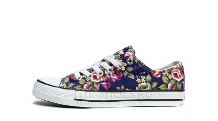 Converse КЕДЫ ЖЕНСКИЕ<br/> CONVERSE ALL STAR LOW PRINT FLOWER BLUE