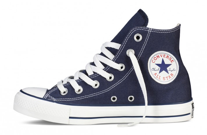 Converse All Star Hi CHUCK TAYLOR Blue White темно-синие