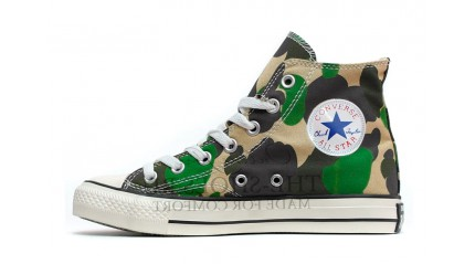 Converse КЕДЫ ЖЕНСКИЕ<br/> CONVERSE ALL STAR HI GREEN CAMO WHITE