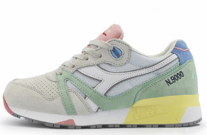 Diadora N9000 Lire Light Gray Green серые