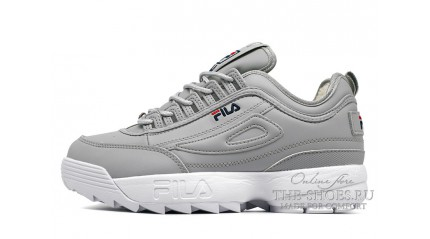 Fila Disruptor 2 Winter Gray White зимние с мехом