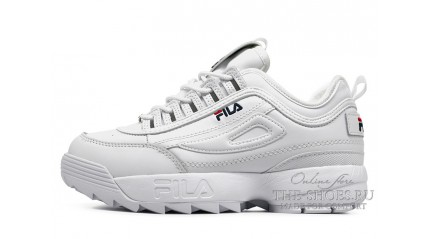 Fila Disruptor 2 Winter Pure White зимние с мехом