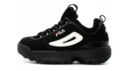 Fila Disruptor 2 Black Suede White черные