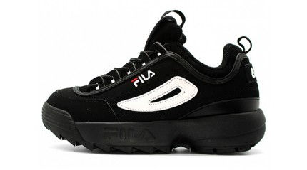 Fila Disruptor 2 Black Suede White