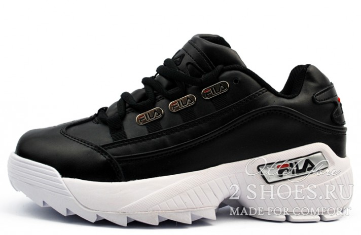 Fila Hometown Extra Black White черные кожаные