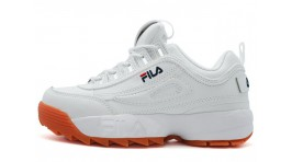 Fila Disruptor 2 White Brown белые кожаные