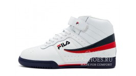 Fila F-13 Mid Trainers White Navy Red белые кожаные