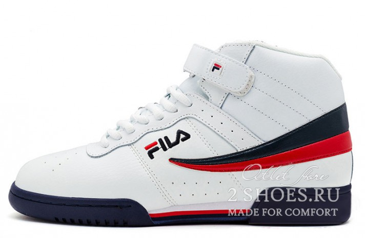 Кроссовки Fila F-13 Mid Trainers White Navy Red