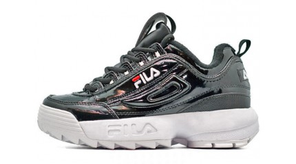 Fila КРОССОВКИ ЖЕНСКИЕ<br/> FILA DISRUPTOR 2 BLACK ENAMEL JAPAN
