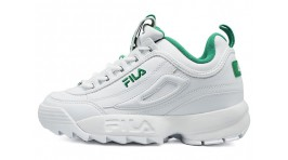 Fila Disruptor 2 White Green белые кожаные