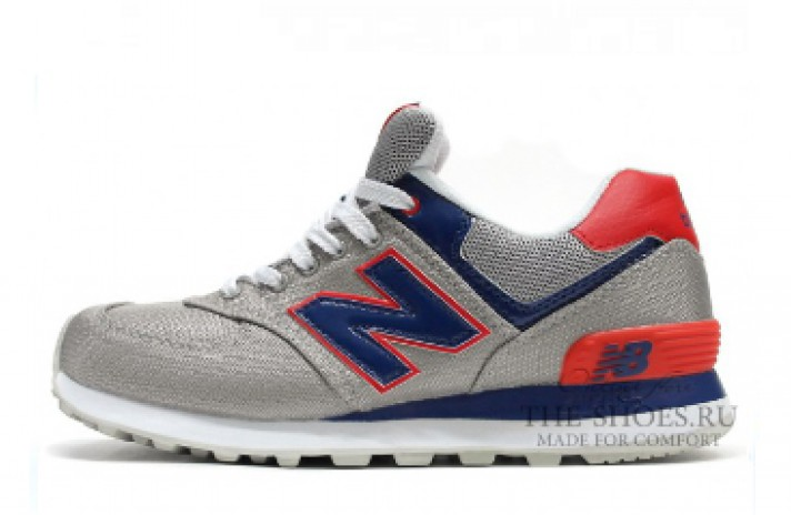 New Balance 574 Grey Blue White Red серые