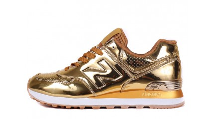 New Balance 574 Gold Hologram