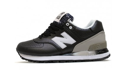 New Balance 574 gradient black