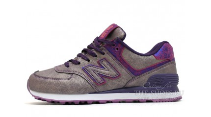 New Balance 574 Mineral Glow Gray Grapes