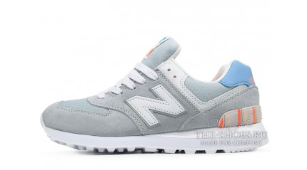 New Balance 574 Light Gray White