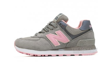 New Balance 574 Dark Gray pink