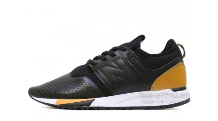 247 КРОССОВКИ МУЖСКИЕ<br/> NEW BALANCE 247 LUXE PACK BLACK LEATHER