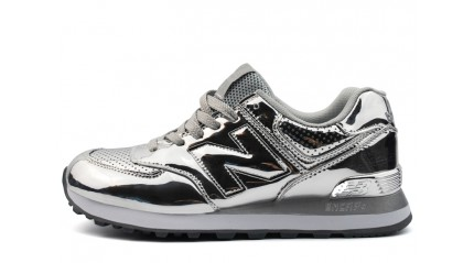 New Balance 574 Silver Hologram Light