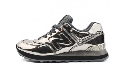 New Balance 574 Silver Hologram Dark