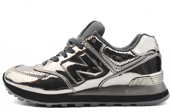 697488bcadde Купить New Balance 574 Silver Hologram Dark - серебристые
