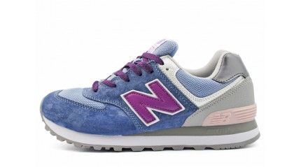 New Balance WL574GBP Blue Purple Gray