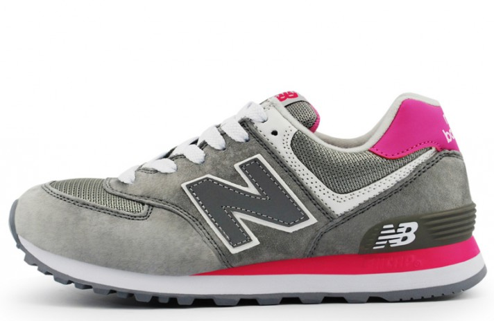 New Balance WL574CPQ Grey Purple серые