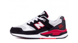New Balance 530 Grey Black Hot Red черные