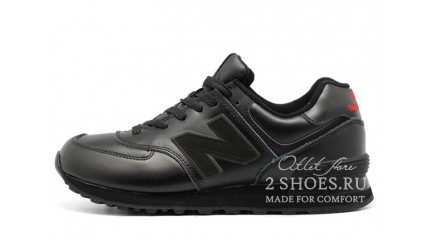 New Balance 574 full black Leather