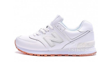 New Balance NB574BAA white gum leather