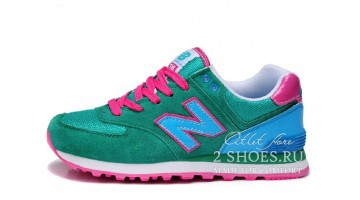 Кроссовки Женские New Balance WL574GPC Green Blue Pink