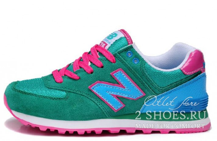 Кроссовки New Balance WL574GPC Green Blue Pink